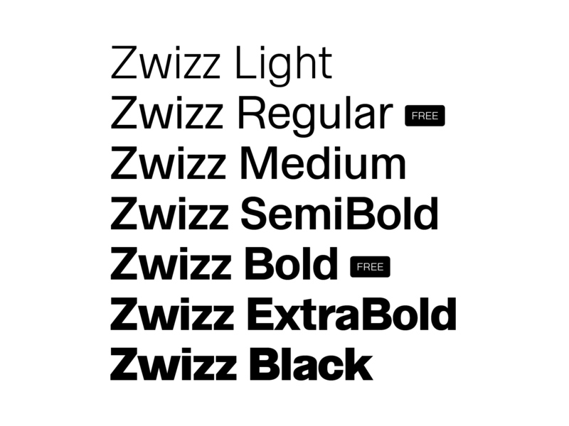 Zwizz Free Font