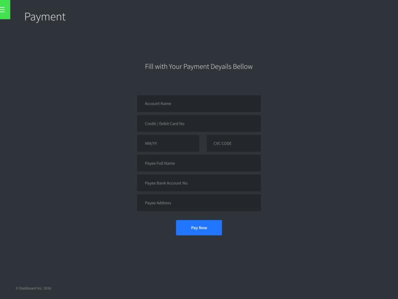 Dashboard template [PSD]