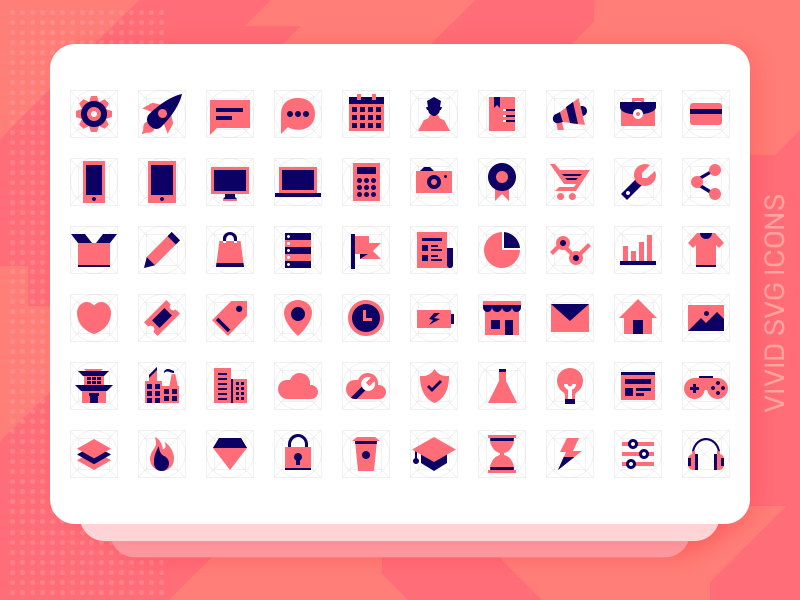 Vivid SVG Icons - Freebie