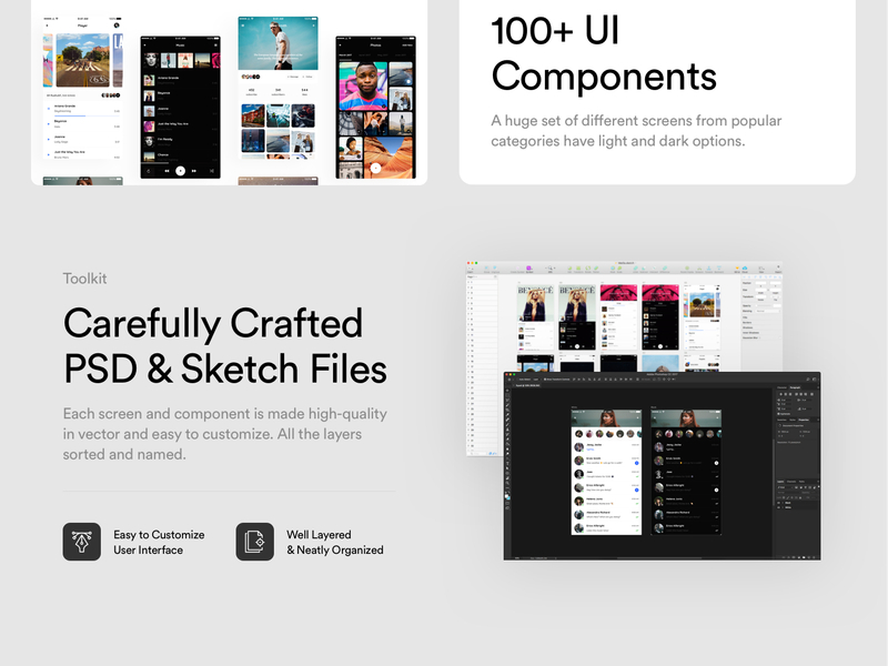 Vera Block - Free Mobile UI Kit for Sketch & Photoshop