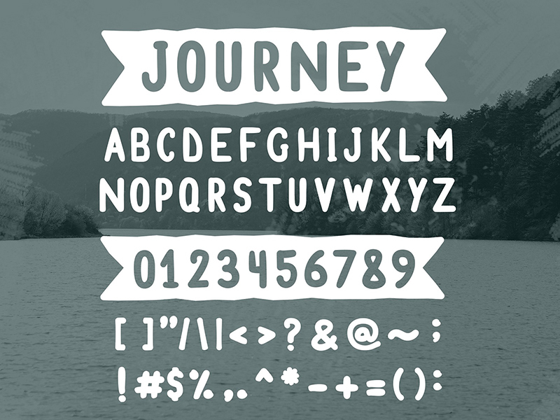 Journey - free font preview picture
