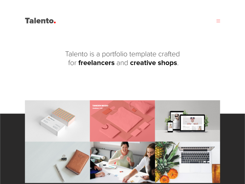 Talento - Free Adobe XD Template