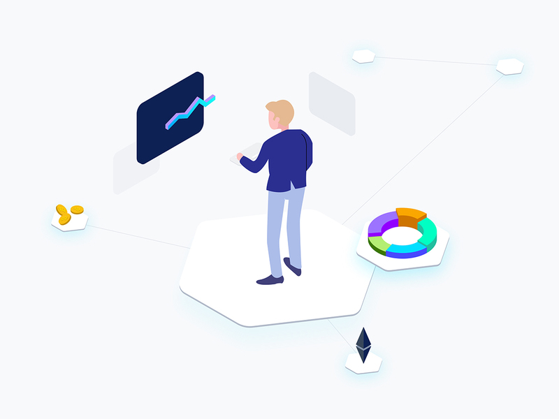 Business Cryptocurrency Isometric Graphic