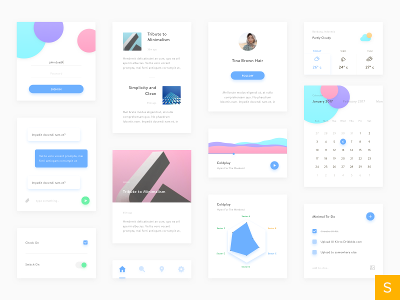 Minimal UI Kit preview picture