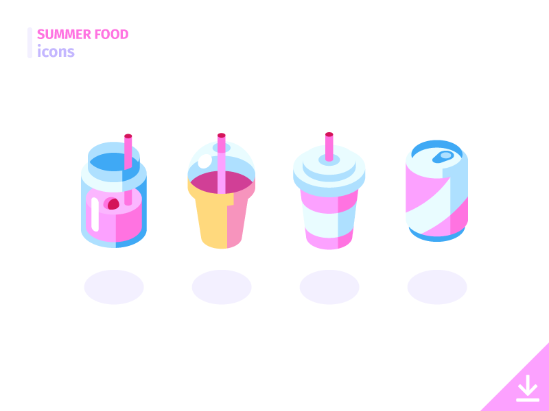 Drinks - 'Summer Food' icon set