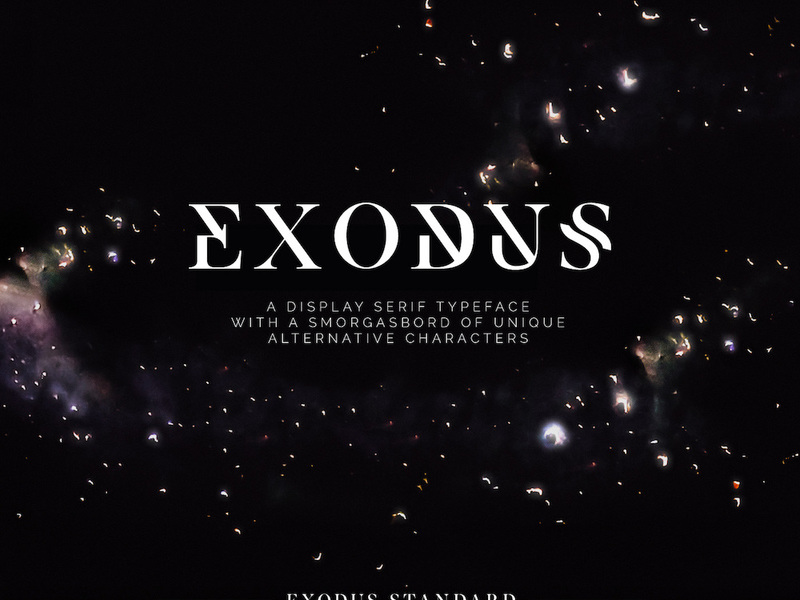 Exodus - Free Typeface preview picture