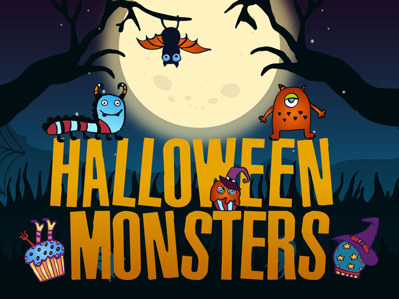 Halloween Monsters Free Vector Illustration