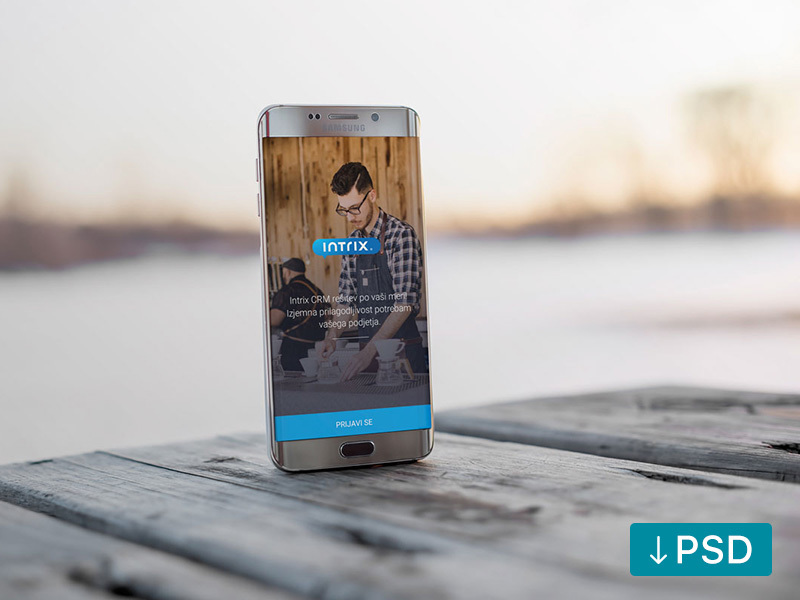 Android Phone On Wooden Table preview picture