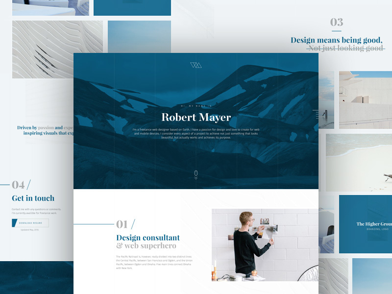Free Portfolio PSD Template preview picture
