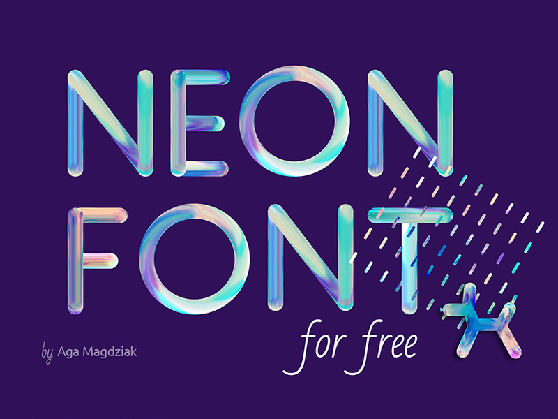 Neon free font preview picture
