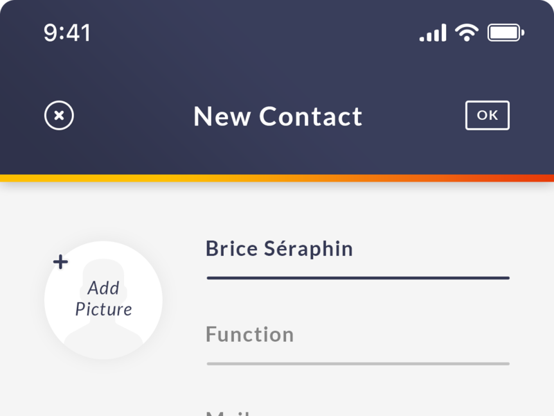 Add New Contact iOS App