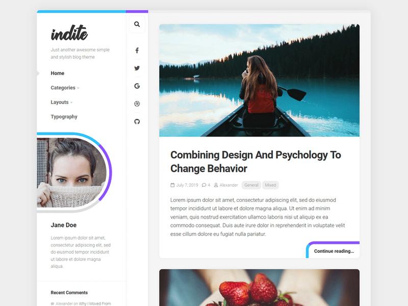 Indite Wordpress Theme