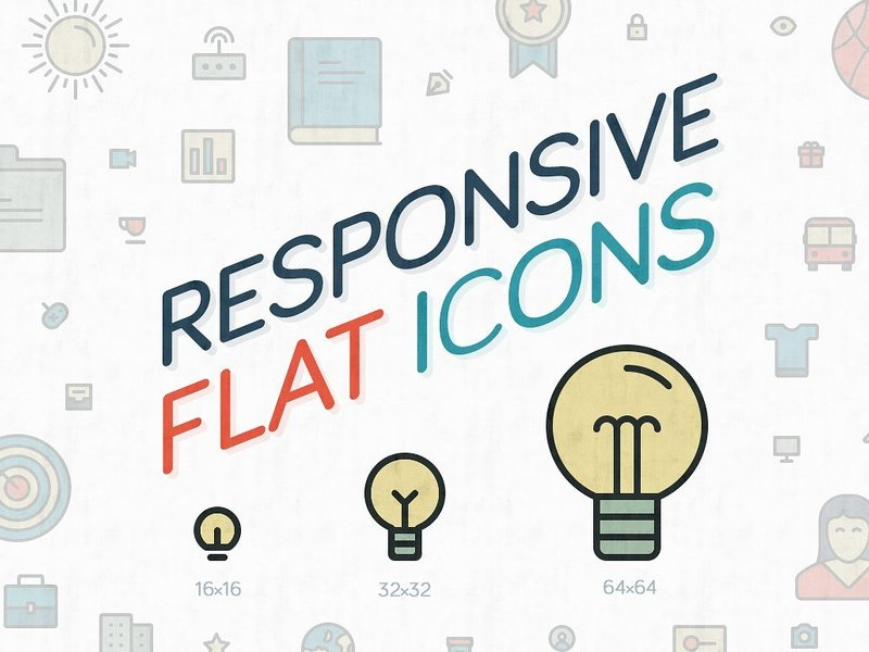 Responsive Flat Icons preview picture