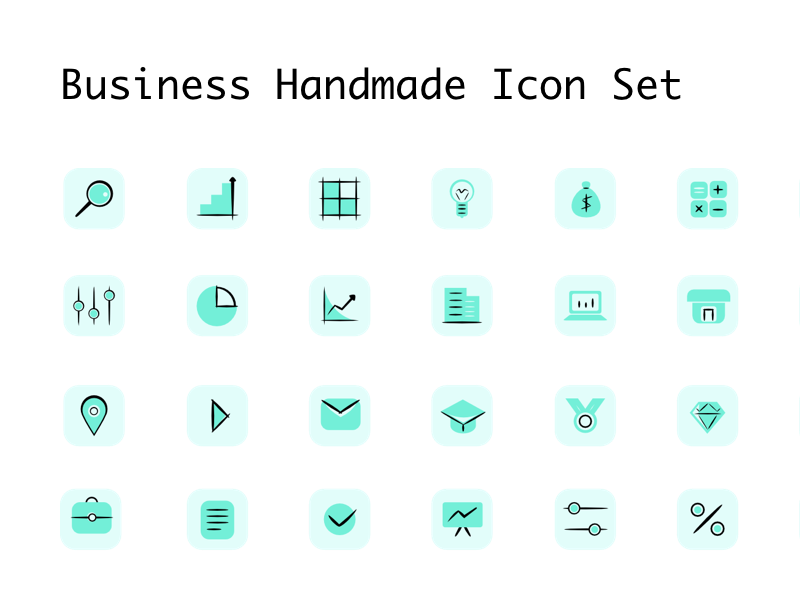 Business Handmade Icon Set preview picture