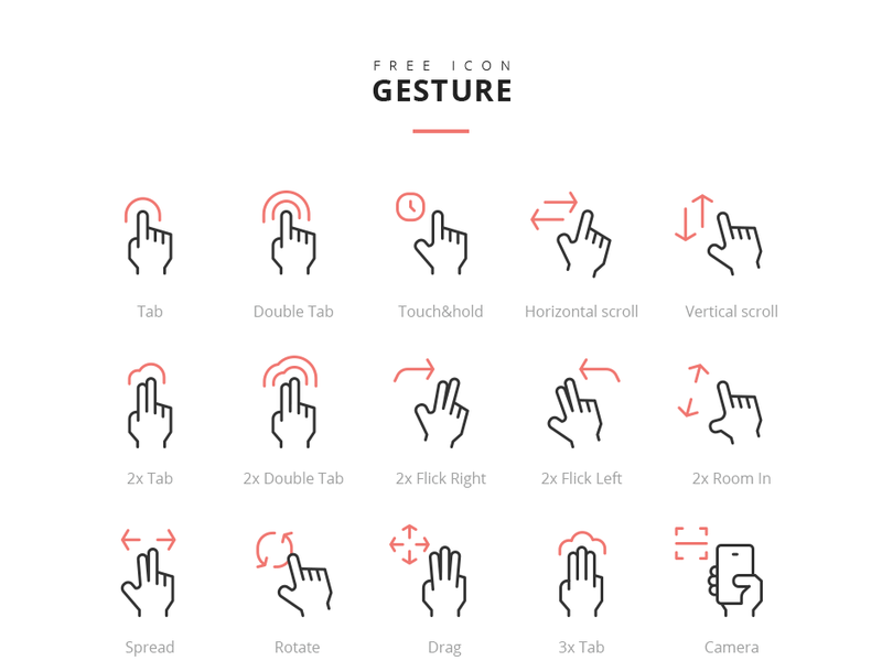 Gesture Icons [AI, PNG, PSD]