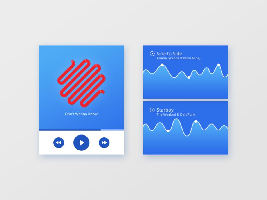 Music player & Album art UI