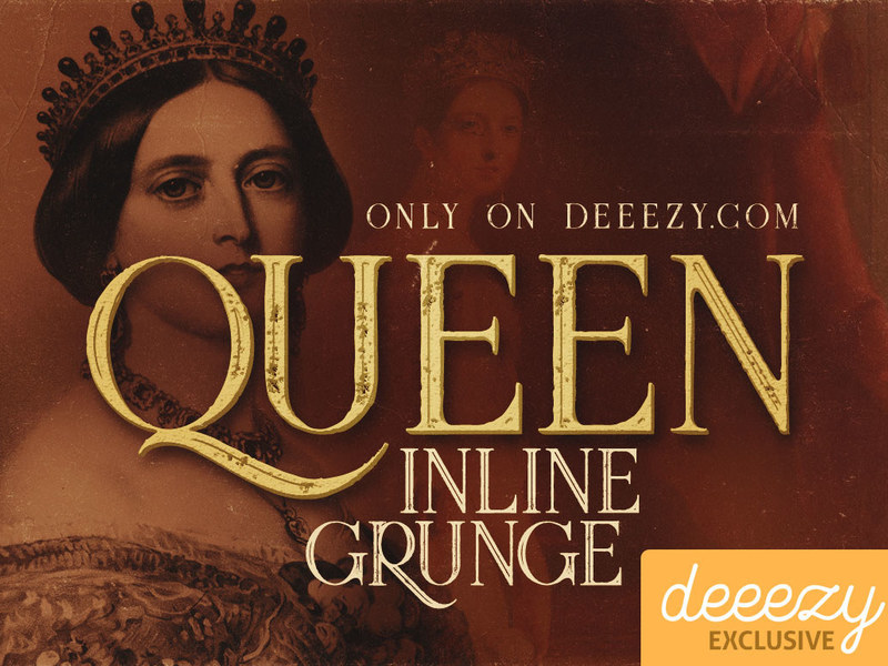 Queen Inline Grunge - Free Font preview picture