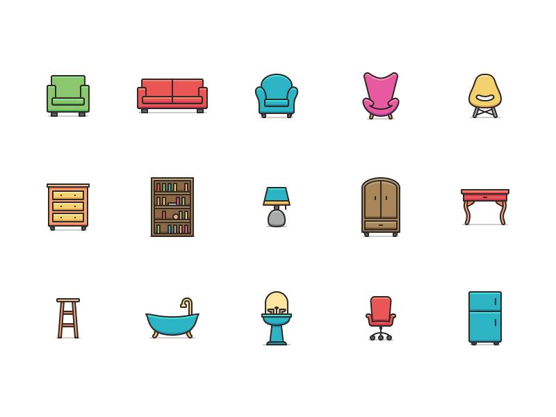 Jacobsen - 15 Home Furnishing Icons preview picture