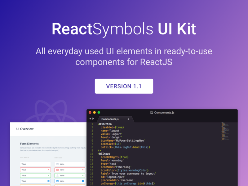 ReactSymbols | ReactJS UI Kit preview picture