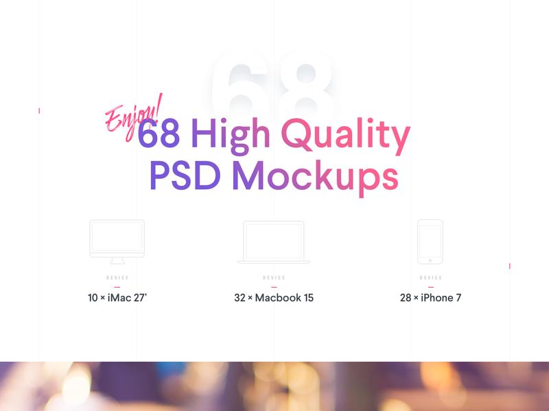 High Quality PSD Mockups
