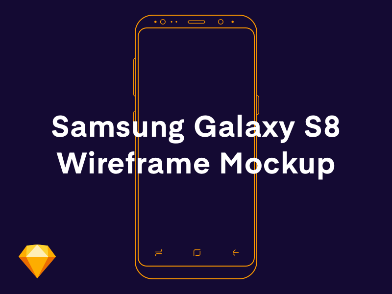 Samsung Galaxy S8 Wireframe Sketch Mockup preview picture