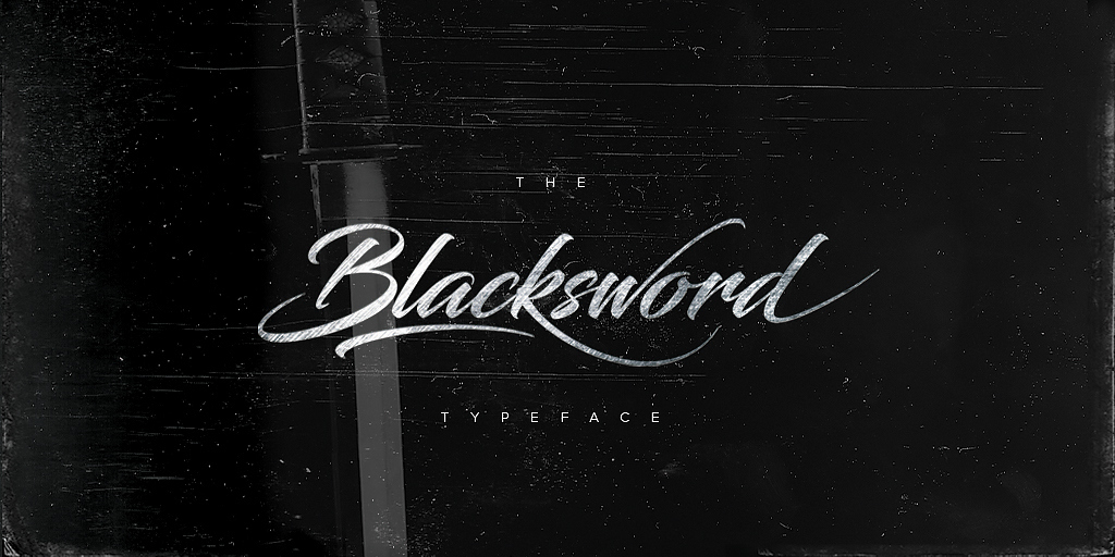 Adorn your Design Projects with Blacksword Typeface Font