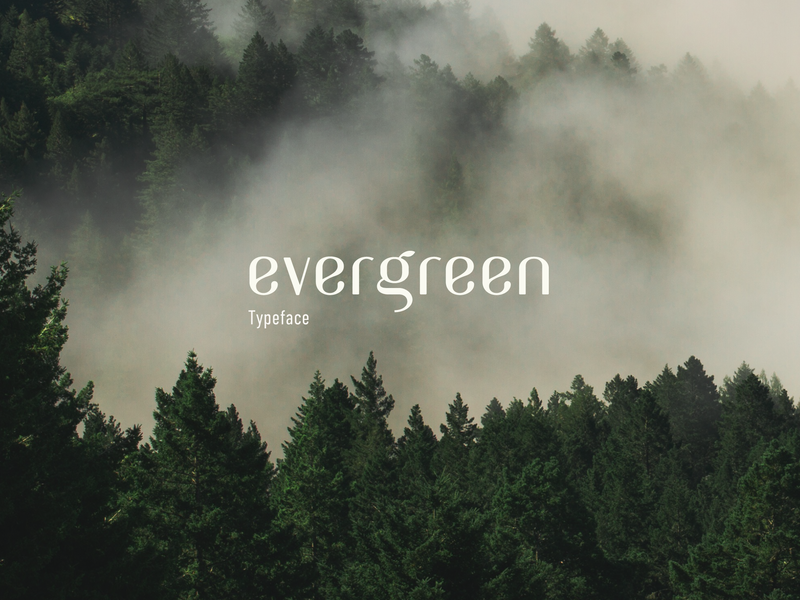 Evergreen typeface preview picture