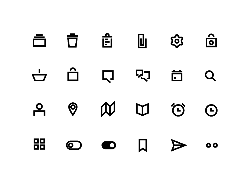 Minima Line Icons preview picture