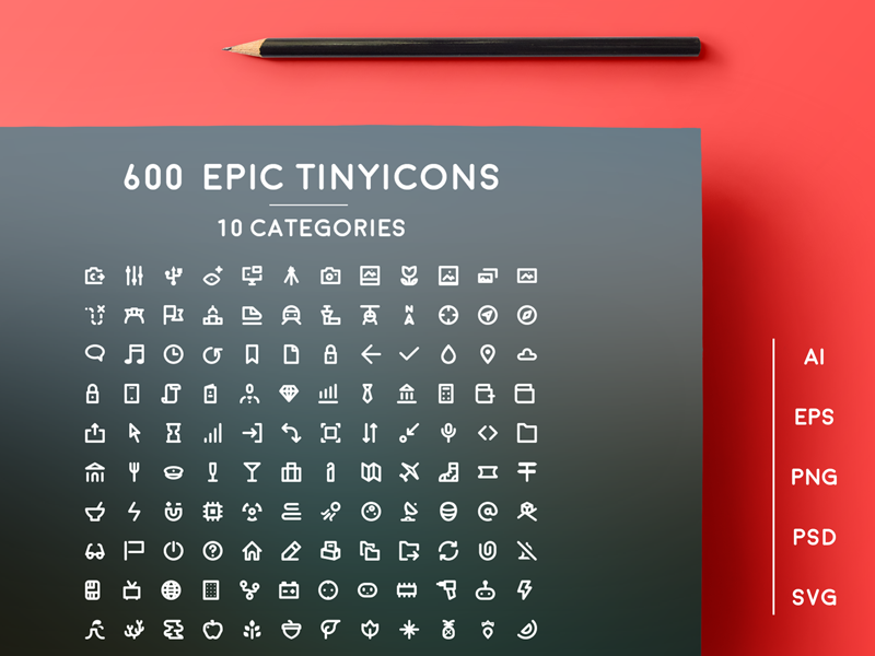 600 Epic Tiny Icons preview picture