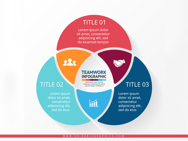 Teamwork Infographic Design Vector Graphics