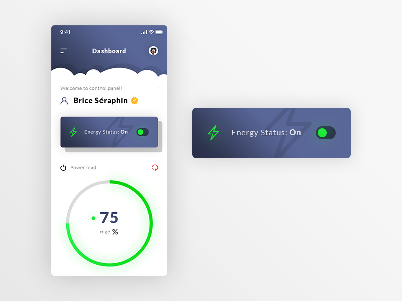 Energy Dashboard Control Panel App preview picture