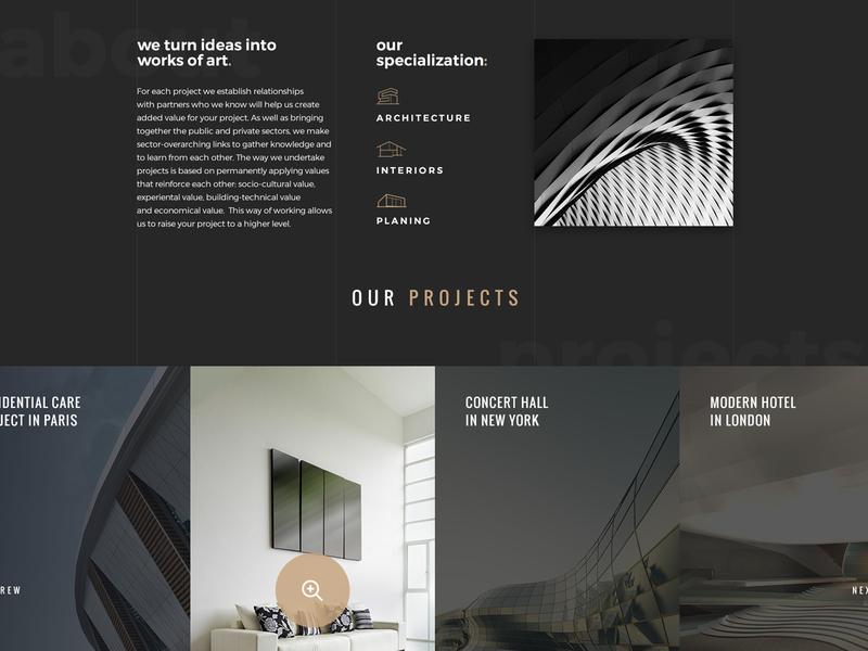 go.arch - Architecture PSD Template