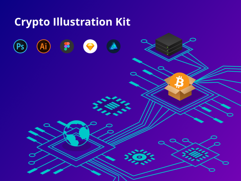 Crypto Illustration Kit preview picture