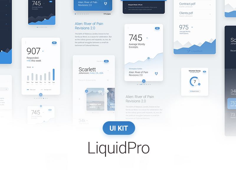 LiquidPro UI Kit preview picture