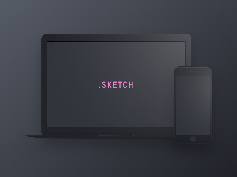 Dark Devices - Free Sketch Mockup preview picture