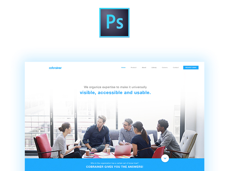 Free Landing Page [PSD] preview picture