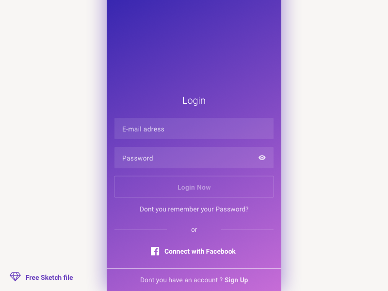 Login & Sign up [Sketch]