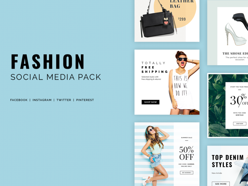Fashion Social Media Pack preview picture