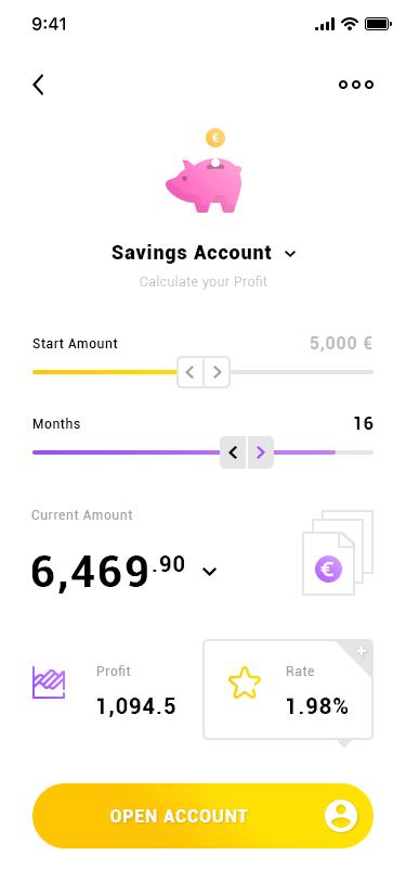 Savings Account. IOS App #Freebies