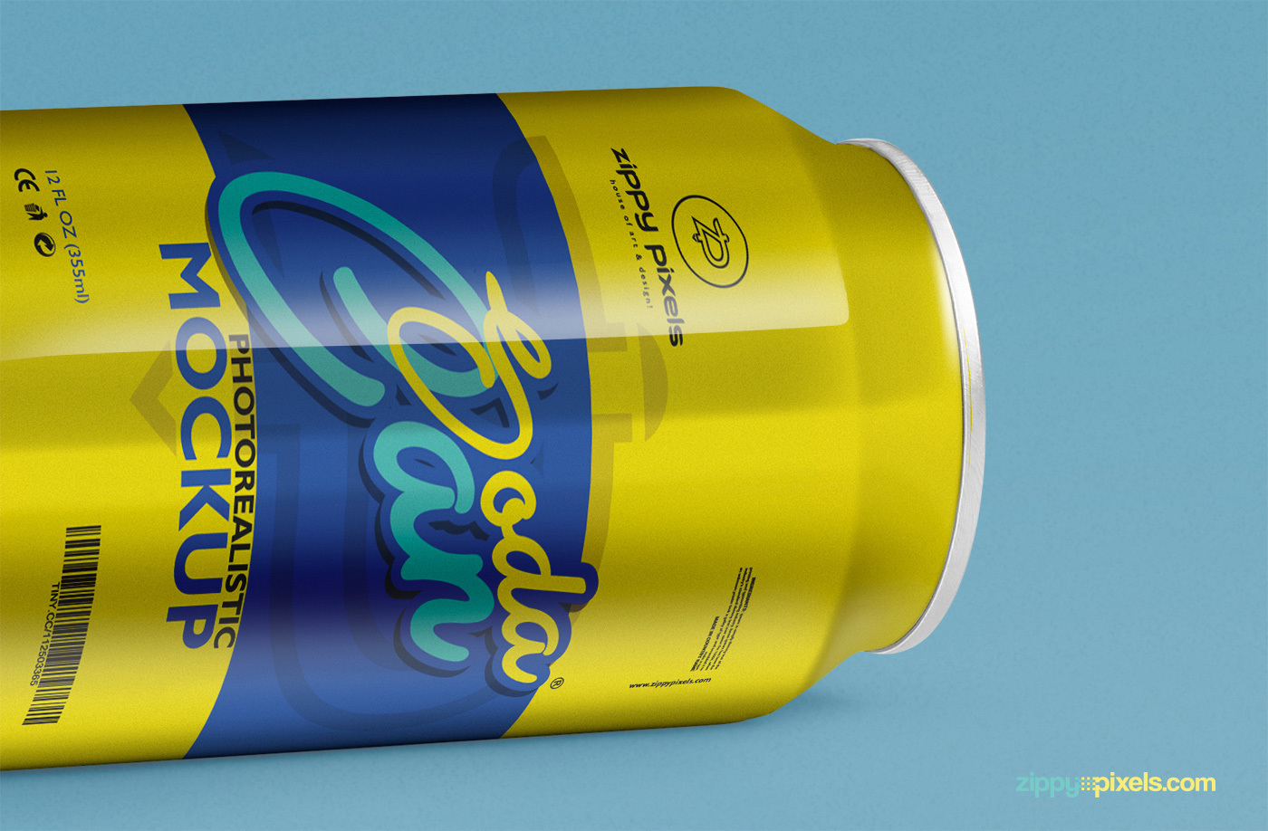 Free Soft Drink Can Mockup PSD