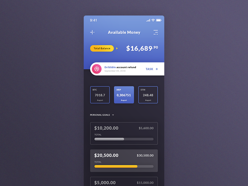 Wallet iOS App preview picture