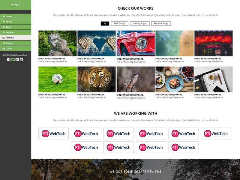 Beez - Creative Multi-Purpose PSD Template