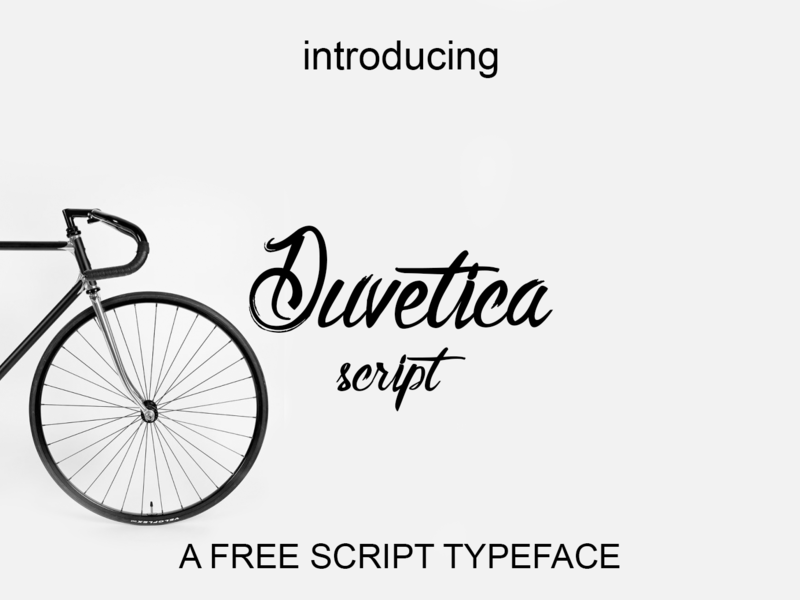 Duvetica - Free Script Typeface preview picture