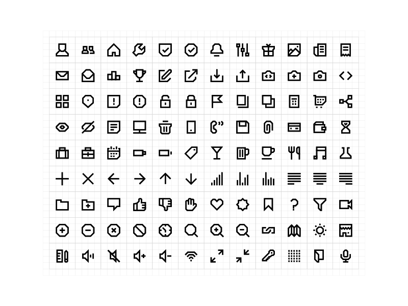 108 Geometric Line Icons preview picture