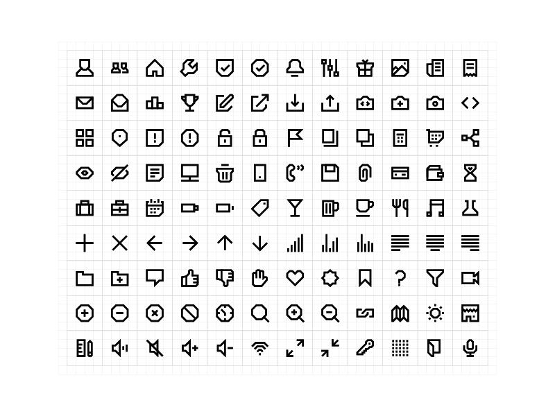 108 Geometric Line Icons