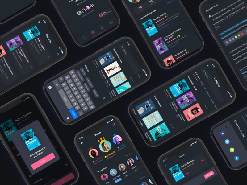 PostIt iOS Reading App UI Kit
