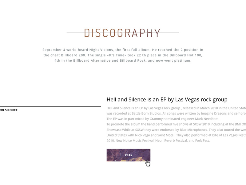 Free PSD template for a musician
