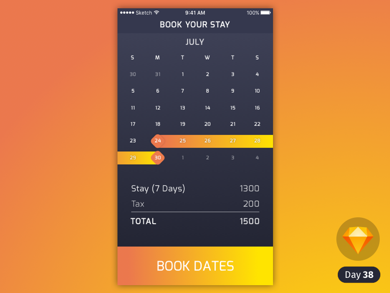 Date Picker [Sketch] preview picture