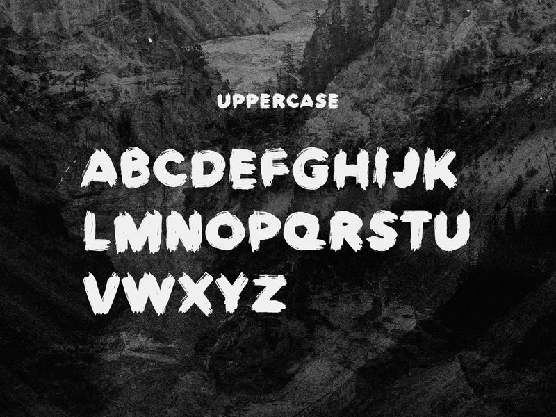 Europa Brush — FREE Textured Brush Font