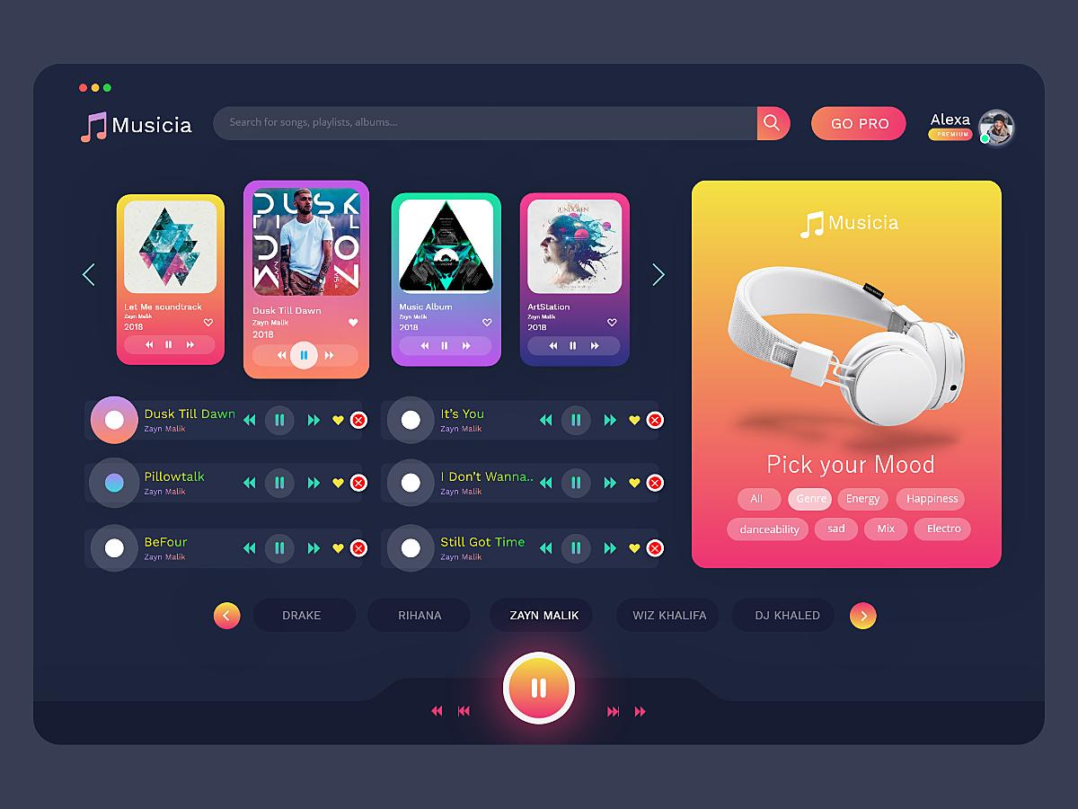 Musicia Web App